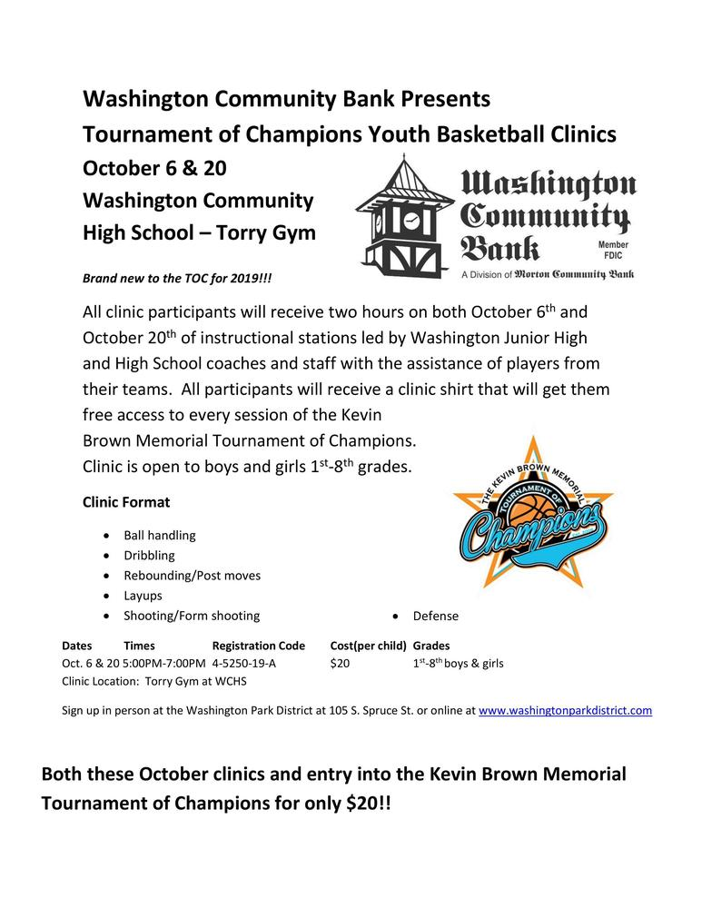 Tournament of Champions Youth Baskeball Clinics