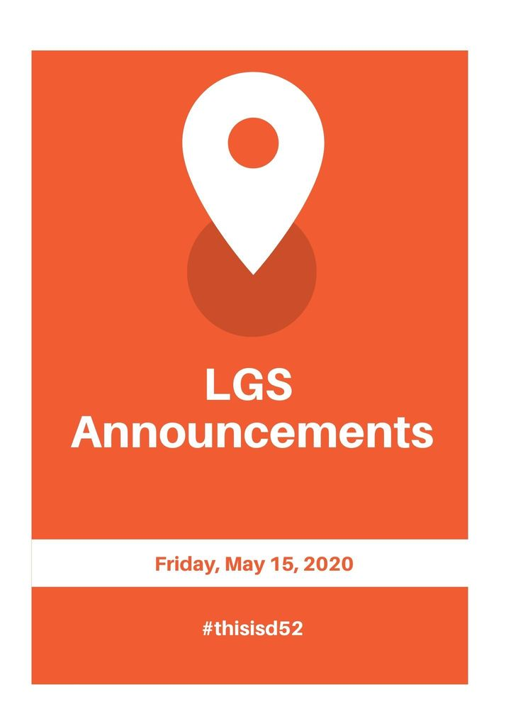 Announcements 5.15.20