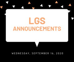 Announcements 9.16.20