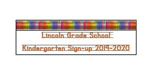Kindergarten Sign-up 2019-2020