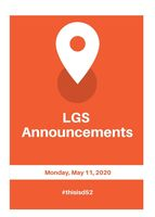 LGS Announcements 5.11.20