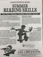 Bradley to offer summer reading skills classes.