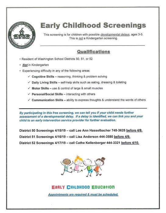Early Child Screening Spring 2019