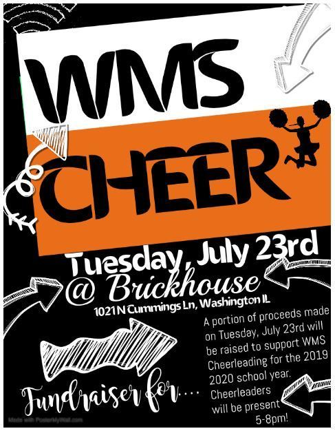 Cheer Fundraiser at Brickhouse