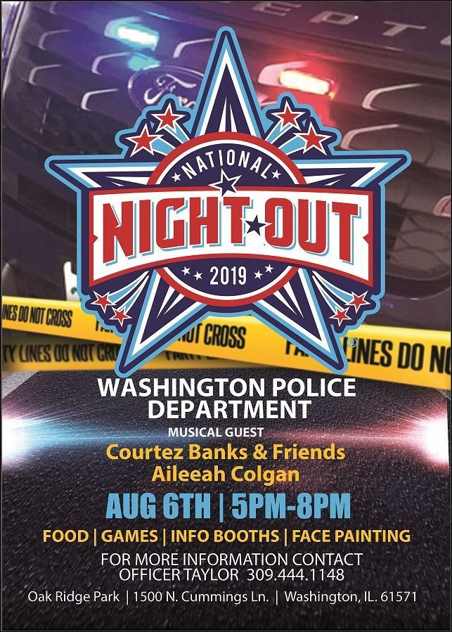 Washington PD Night Out August 6th from 5-8PM