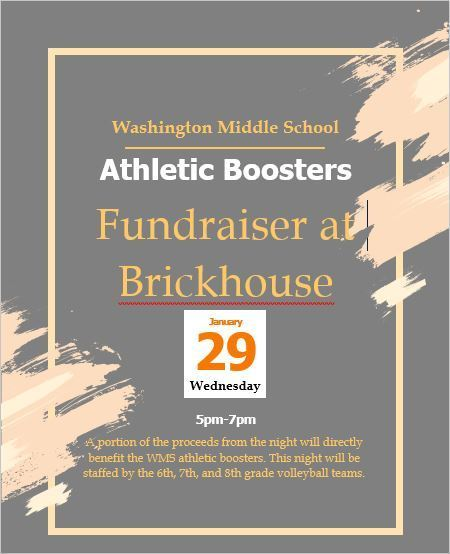 Brickhouse Fundraiser for Athletics
